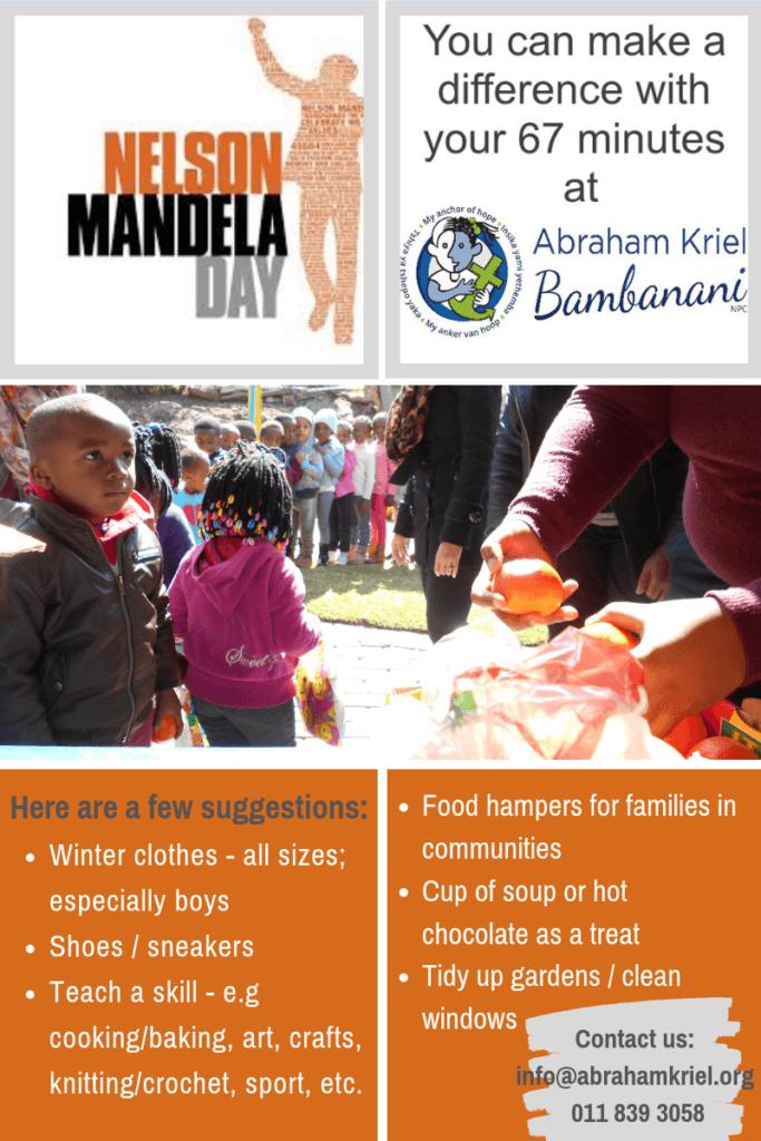 Mandela Day 2019 - Abraham Kriel