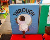 toddler girl playing